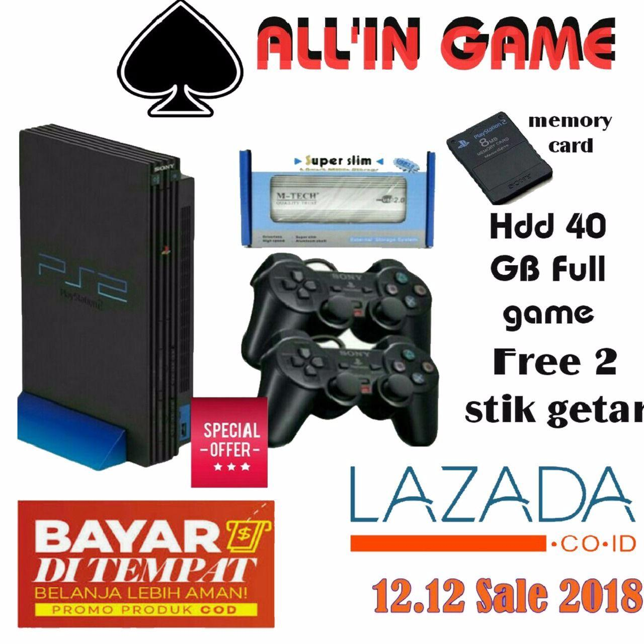 Konsol Playstation Terbaru Sony 4 Slim 500gb Garansi Cuh 2006a Hits Bundle Ps2 Fat Harddisk Isi 50games 2stick Elite