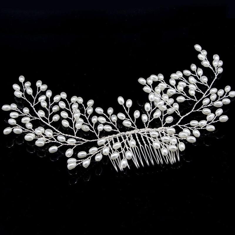 1 Pcs Handmade Pearl Hair Comb Hairpin for Women Bridal Wedding Prom Hair Ornaments Jewelry