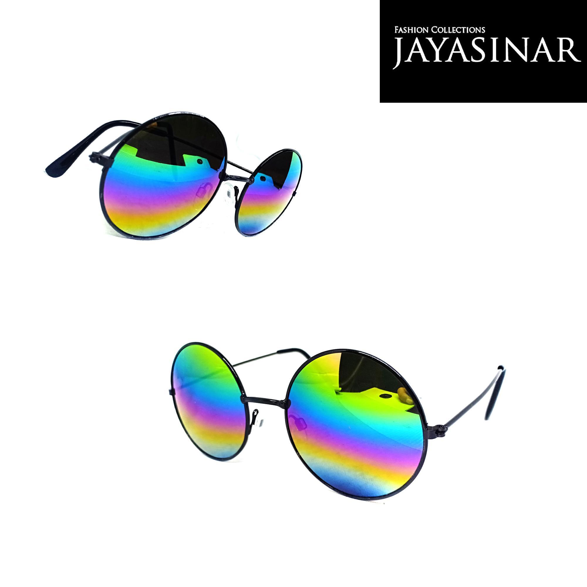 Kacamata Hitam Full Bulat Boboho/Kacamata Gaya/Kacamata Fashion-01477C-JY