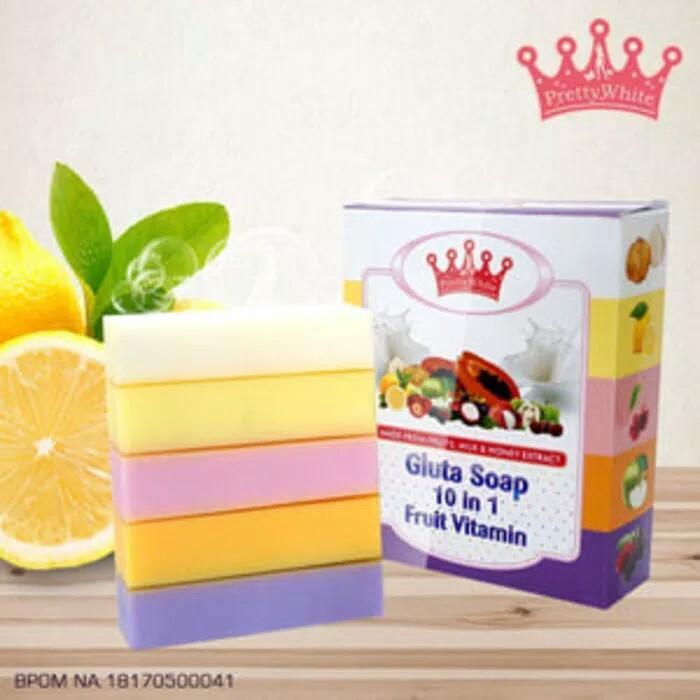 FRUITAMIN SERUM BPOMIDR10000. Rp 11.000. GLUTA fruitamin Soap By Pretty White 10 in 1 ...