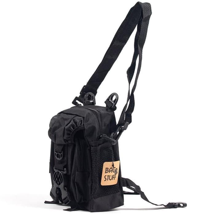 SUPER MURAH!!! BAG & STUFF - MINI MANHUNTER TAS SELEMPANG KECIL PRIA / Tas Selempang Pria Murah Eiger Kulit Consina Asli Original Branded Bodypack Kanvas Army Polo Anti Maling
