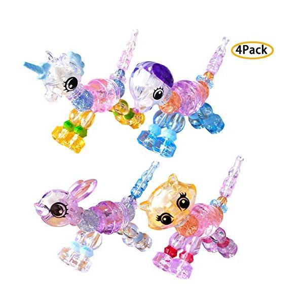 Aa Toys 4 Pcs Magic Pet Beads Motif Acak - Mainan Anak Perempuan / Mainan Gelang / Paket Hemat By Plasamainan.