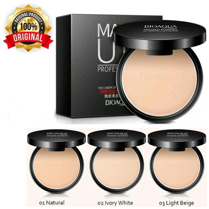 Bioaqua Make Up Professional Pressed Powder Foundation Bedak Padat / Bioaqua Compact Powder By Luckystore.