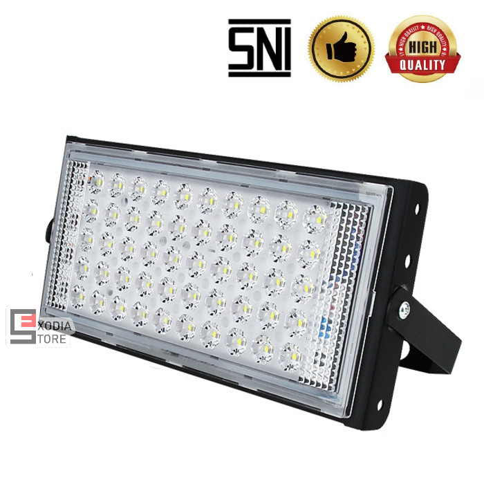 Lampu Sorot Emico SMD LED 50 watt SNI IP65 Lampu Tembak Floodlight DOB