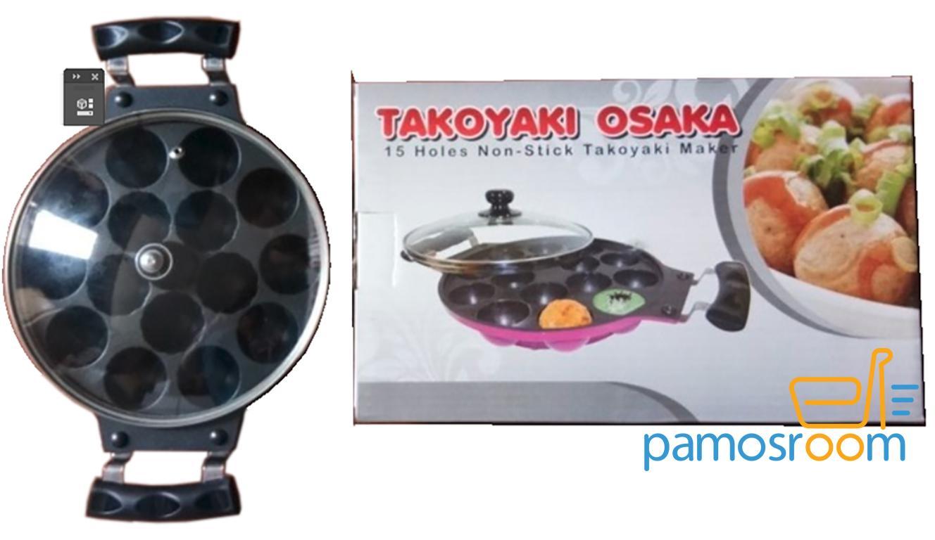 Takoyaki Osaka Teflon 15 Lubang / Cetakan Kue Cubit