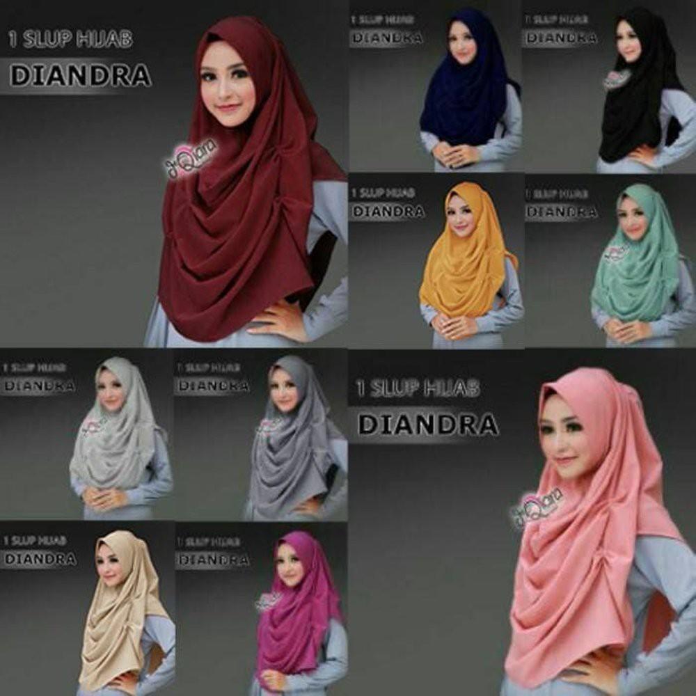 Jual Hijab (Jilbab) Modern Terbaik / Baju Muslim Hijab Kerudung/Jilbab Instant Diandra