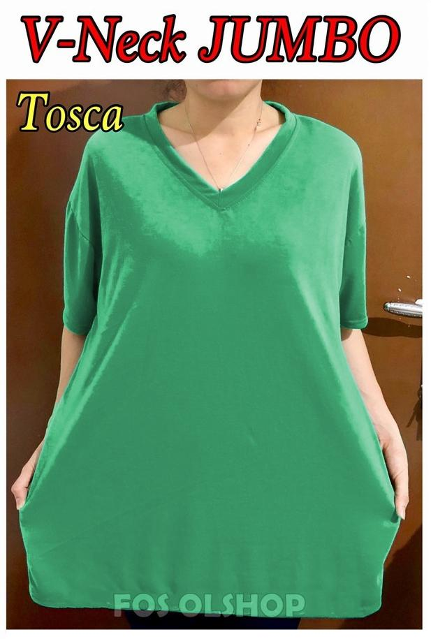 Kaos Jumbo XXL Tshirt V-neck   ATASAN BIG SIZE   OBLONG WANITA UKURAN BESAR 32d016a690