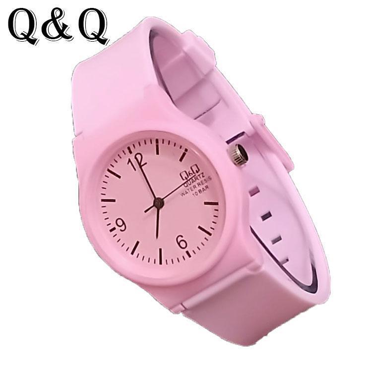 Q&Q 46 Jam Tangan Fashion QQ/QnQ Anak - Anak Pria & Wanita New Edition Rubber Strap Model Terbaru