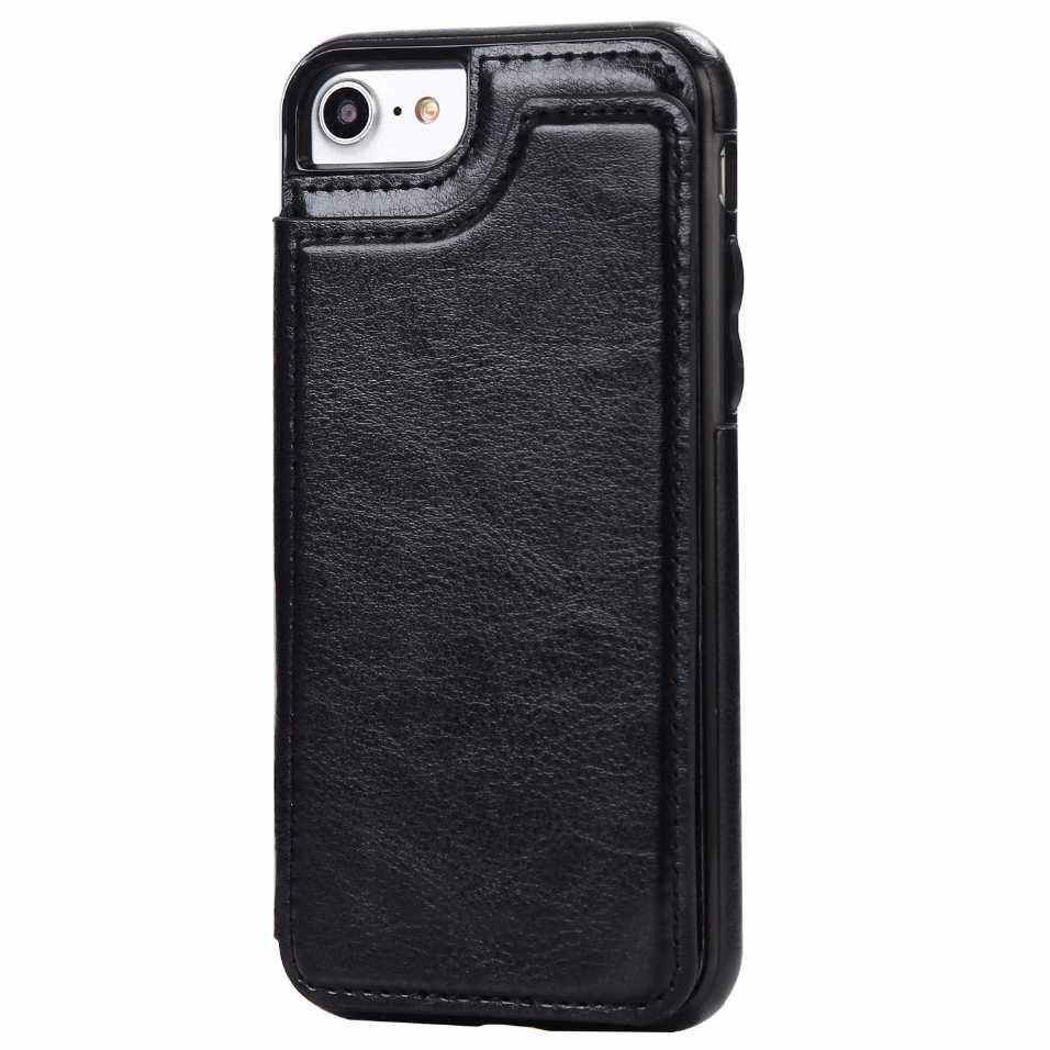 Leather Smartphone Case with Mini Wallet for iPhone 7/8