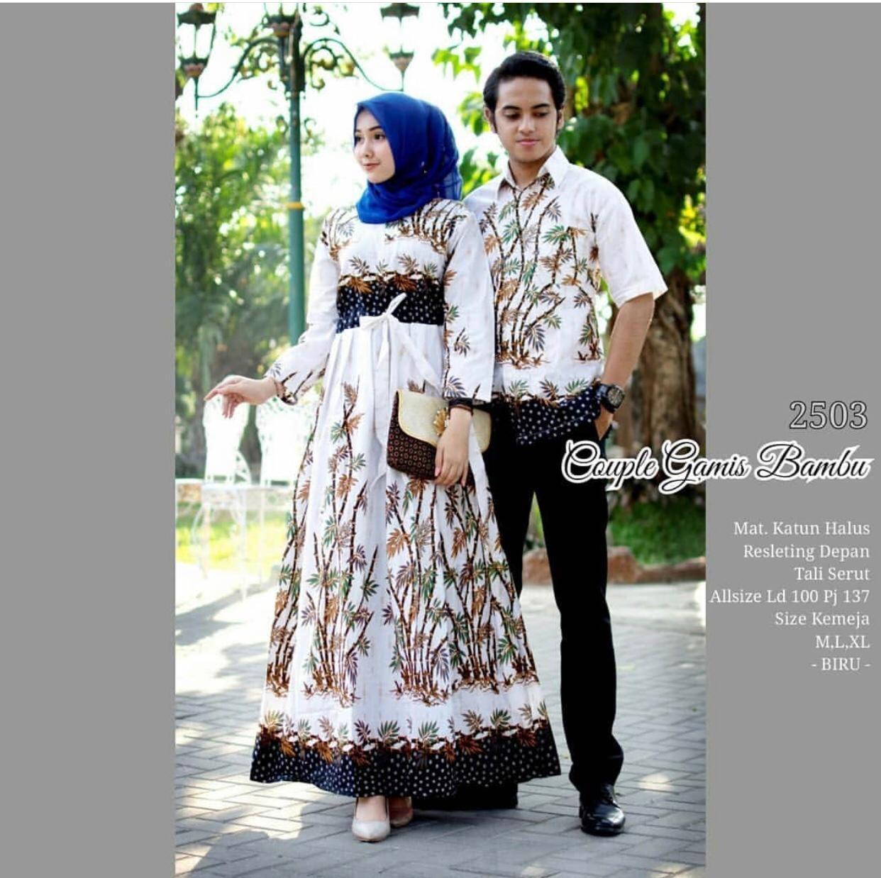 TERMURAH (COD) !!! - Batik Couple / Couple Batik / Baju Muslim Wanita Terbaru 2019 / Batik Murah / Batik Sarimbit / Baju Batik Modern / Baju Modern / Batik Kondangan / Batik Keluarga / Batik Pekalongan - Batik Solo - Baju Batik Couple Gamis Bambu