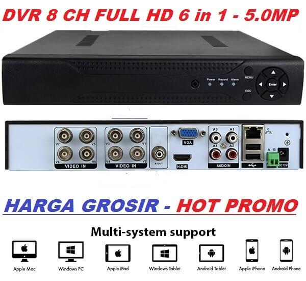 Harga Lagi Promo DVR 8 Channel Full HD Real 5.0MP 6 in 1 Harga grosir