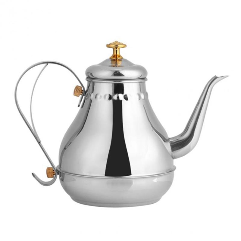 Stainless Steel Teapot Gooseneck Pour Coffee Drip Kettle Tea Filter Pot Indoor Coffee Pot Drip Kettle