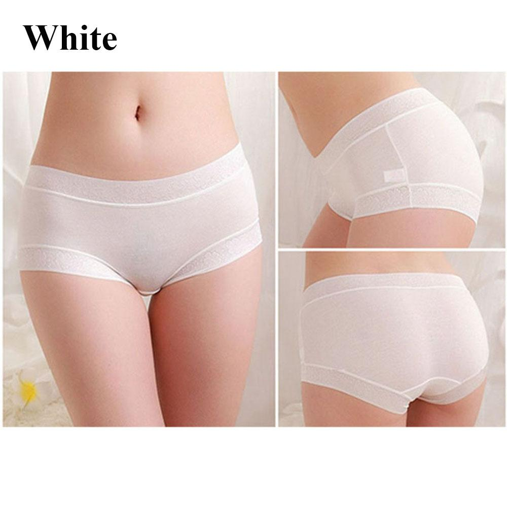Women Lace Modal Brief Solid Panties Knickers Lingerie Bikini Seamless Underwear By Chuanming.