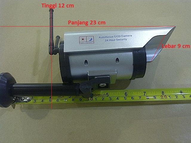 CCTV dummy palsu Outdoor antenna silver solar power ten Murah