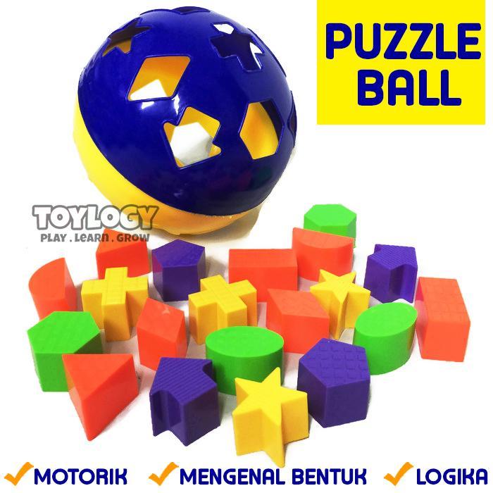 Mainan Edukatif Edukasi Anak Puzzle Ball Jigsaw Bola Bentuk Shape Warna 8ef9d2cb23
