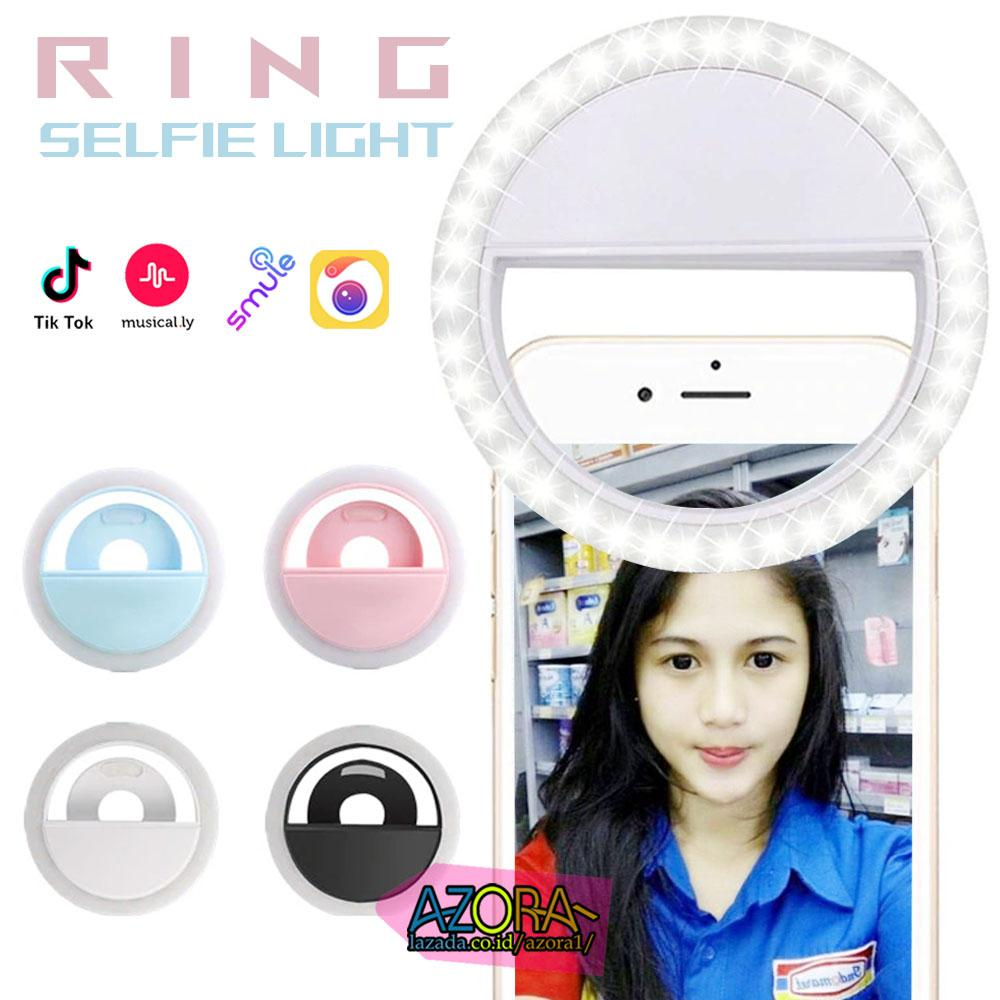 Ring Selfie Light Lampu Selfie Foto Night Potable Clip 36 Led Lampu Flash Camera Capit Tiktok Musically Live Show Bigo Random Color By Azora-.