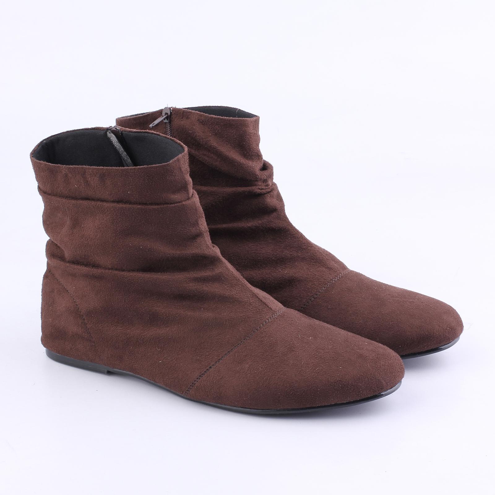 Catenzo - Sepatu Boots Wanita - YE 091 - Brown - Terbaru