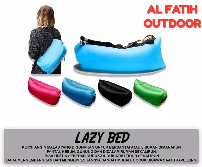 LAZY BED kursi angin malas camping air sofa bag