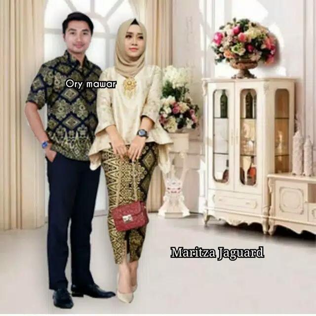 TERMURAH - Batik Couple - Baju Muslim Wanita Terbaru 2019 – Batik Keluarga - Baju Batik Sarimbit - Baju Batik Modern - Batik Kondangan - Baju Batik Couple MARITZA JAGUARD