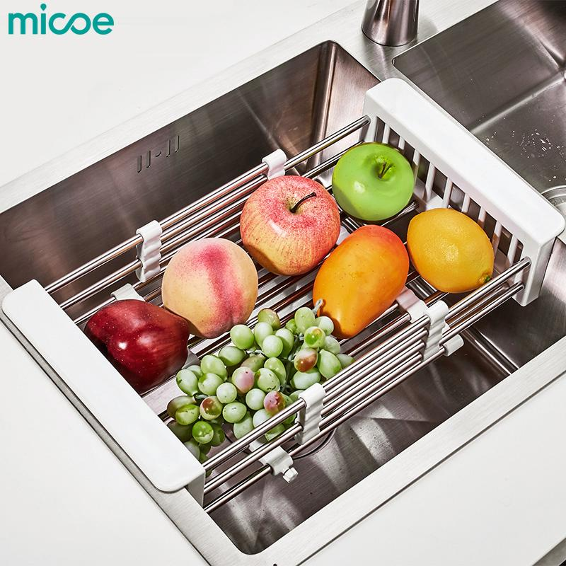 Micoe Keranjang Gantung Wastafel Stainless Steel Pengering Alat Dapur Buah Dan Sayur Dapur Rak By Home Life Shop.