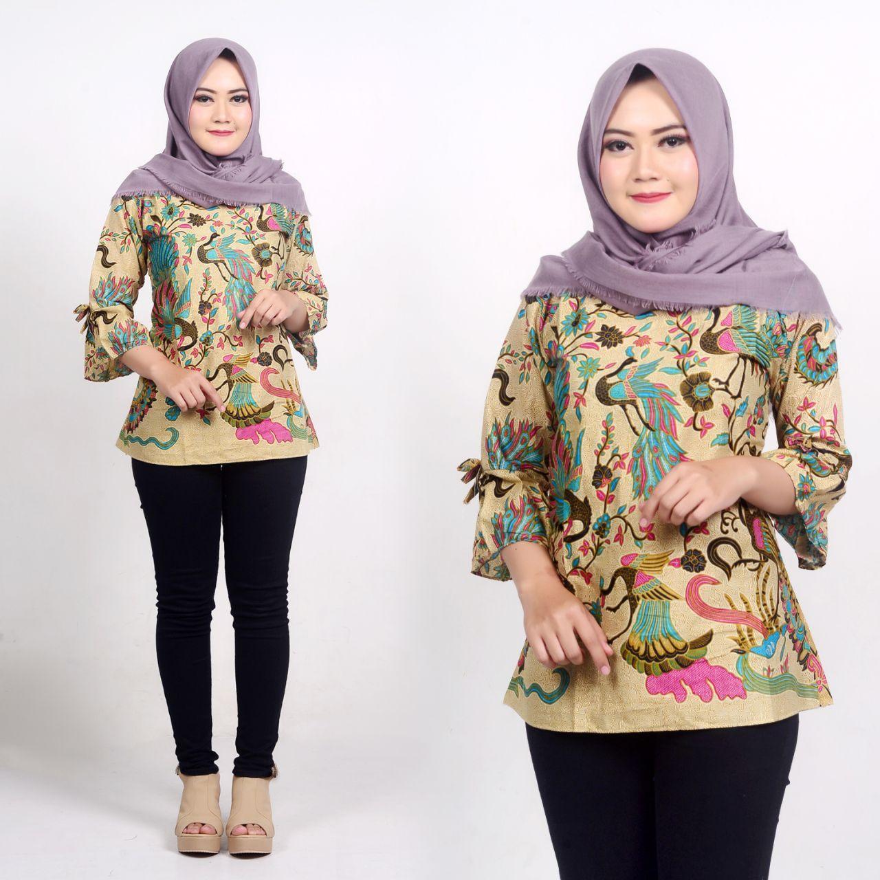 Kemeja Batik Wanita Terbaru 2019 - Kumpulan Model Kemeja