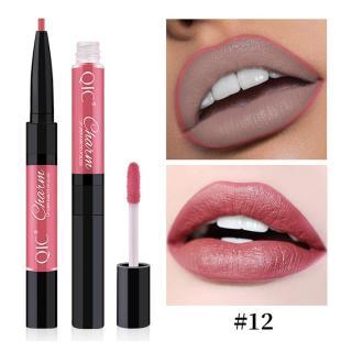 Lip Gloss Dua Dalam Satu, Lip Gloss Ganda 12 Warna Cangkir Ganda thumbnail