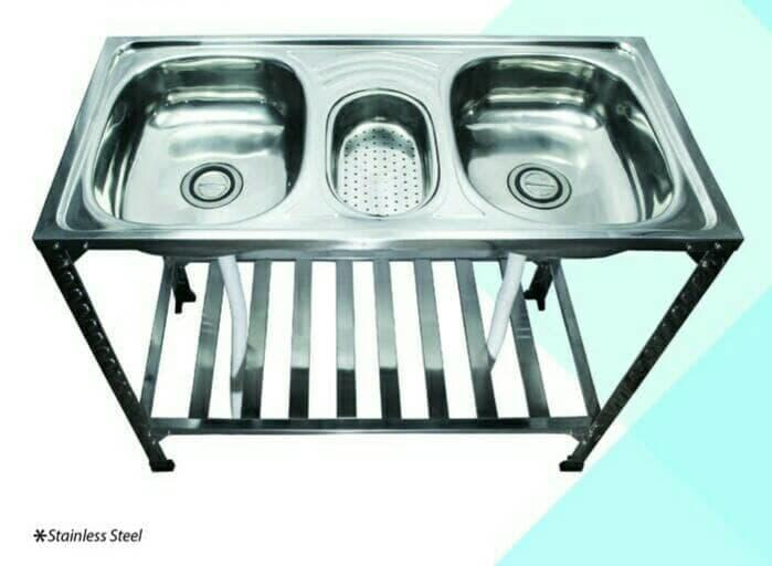 bak cuci piring/kitchen sink kaki meja portable( khusus gosend)