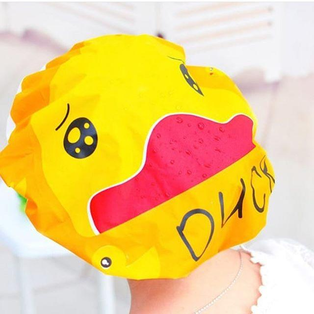 Shower cap karakter penutup kepala anti air motif kartun / Topi Mandi Lucu / WaterProof |