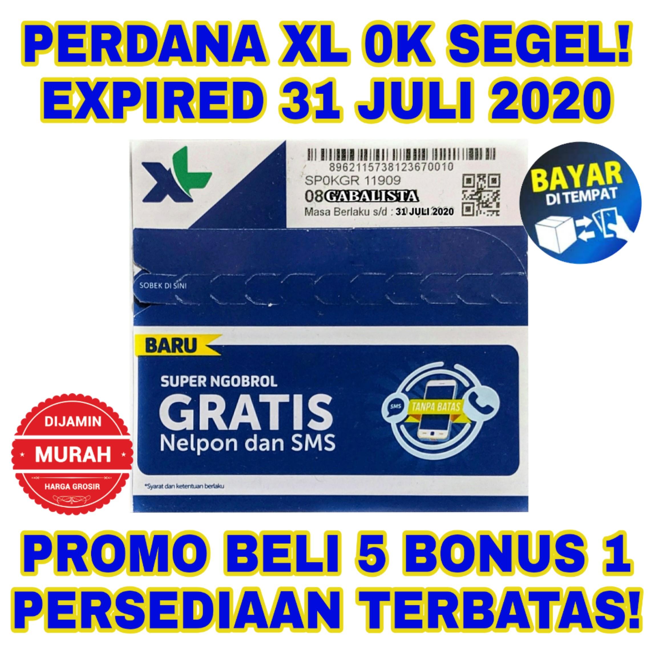Kartu Perdana XL Pulsa 0k (BUKAN Telkomsel Simpati As Loop Indosat im3 Axis Tri smartfren)