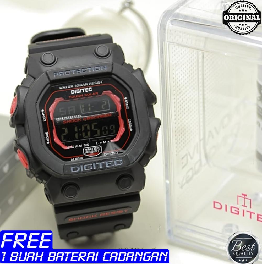 Digitec - Jam tangan sport - pria - Original - water resist - Display digital