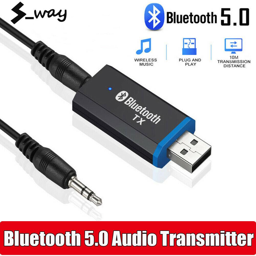 Máy Phát Bluetooth S-way, Hơn 5.0 Bộ Chuyển Đổi Âm Thanh EDR Cho TV PC Tai Nghe Bộ Chuyển Đổi Không Dây Âm Thanh Nổi AUX USB 3.5MM Cắm Và Chạy