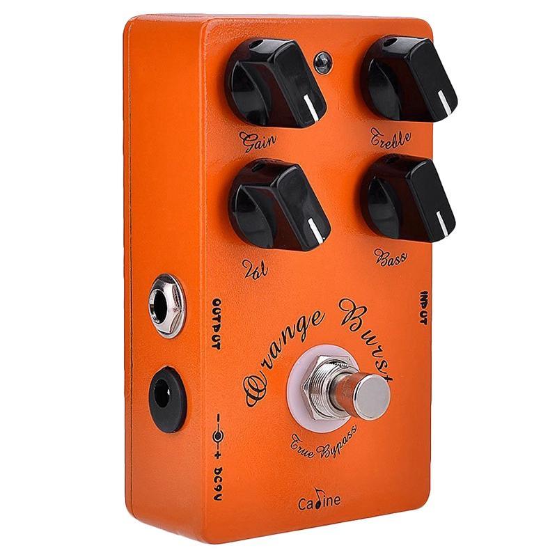 Caline CP-18 Burst Overdrive Guitar Effect Pedal Orange Amplifier Guitar Pedal Accessories Parts