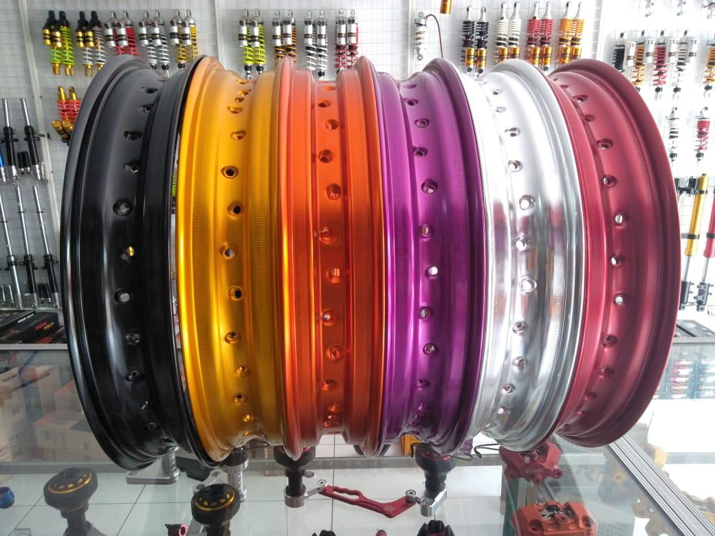velg scarlet pelek tapak lebar ring 17 ukuran 250mm type wm shape