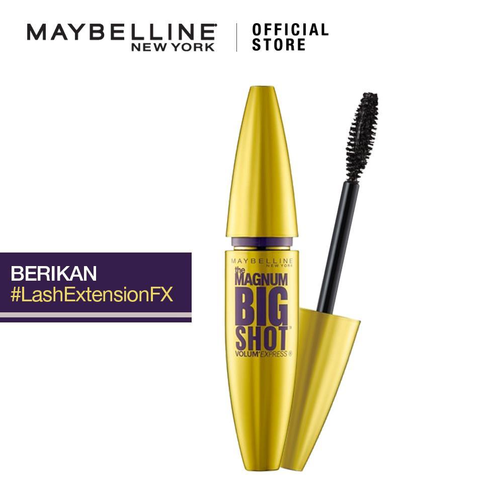 Maybelline Magnum Big Shot Waterproof Mascara MakeUp - Black [ Maskara Tahan Air - Hitam ] | Lazada Indonesia