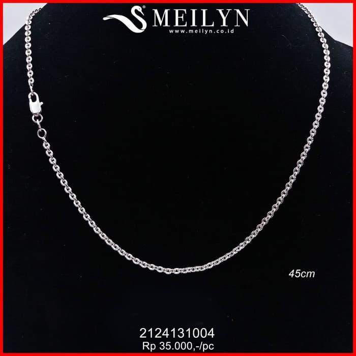 Terbaru Kalung Polos Cantik Silver 2124131004 - Perhiasan Emas Xuping - Perhiasan Emas Xuping azzaid