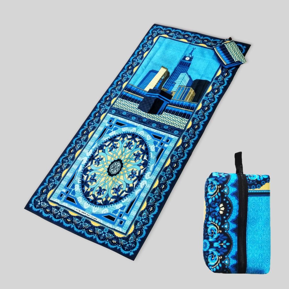 [Termurah!!] Sajadah travel sajadah batik cantik seri marwah biru