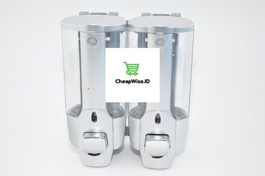 Dispenser Sabun Cair 2 In 1 With Key Lock 2 Tabung / Double Dispenser Liquid Soap
