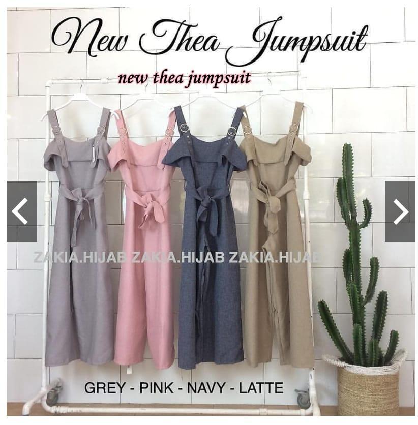 Baju Wanita Terbaru New Thea Jumpsuit Baloteli Baju Wanita Panjang Pakaian Murah Casual Setelan Wan