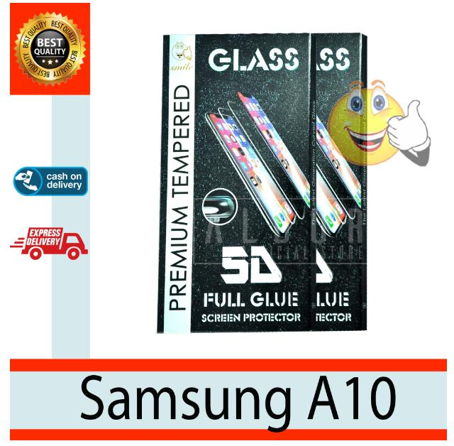 Aldora Tempered Glass Compatible With Samsung A10 5D Full Curved Screen Protector Full Layar Premium HD Quality