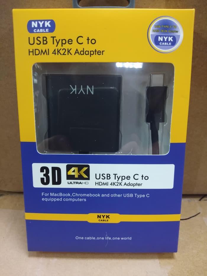 NYK CONVERTER TYPE C TO HDMI SUPPORT MACBOOK / AKSESORIS KOMPUTER / PERALATAN KOMPUTER / PALING LAKU DAN HARGA TERJANGKAU