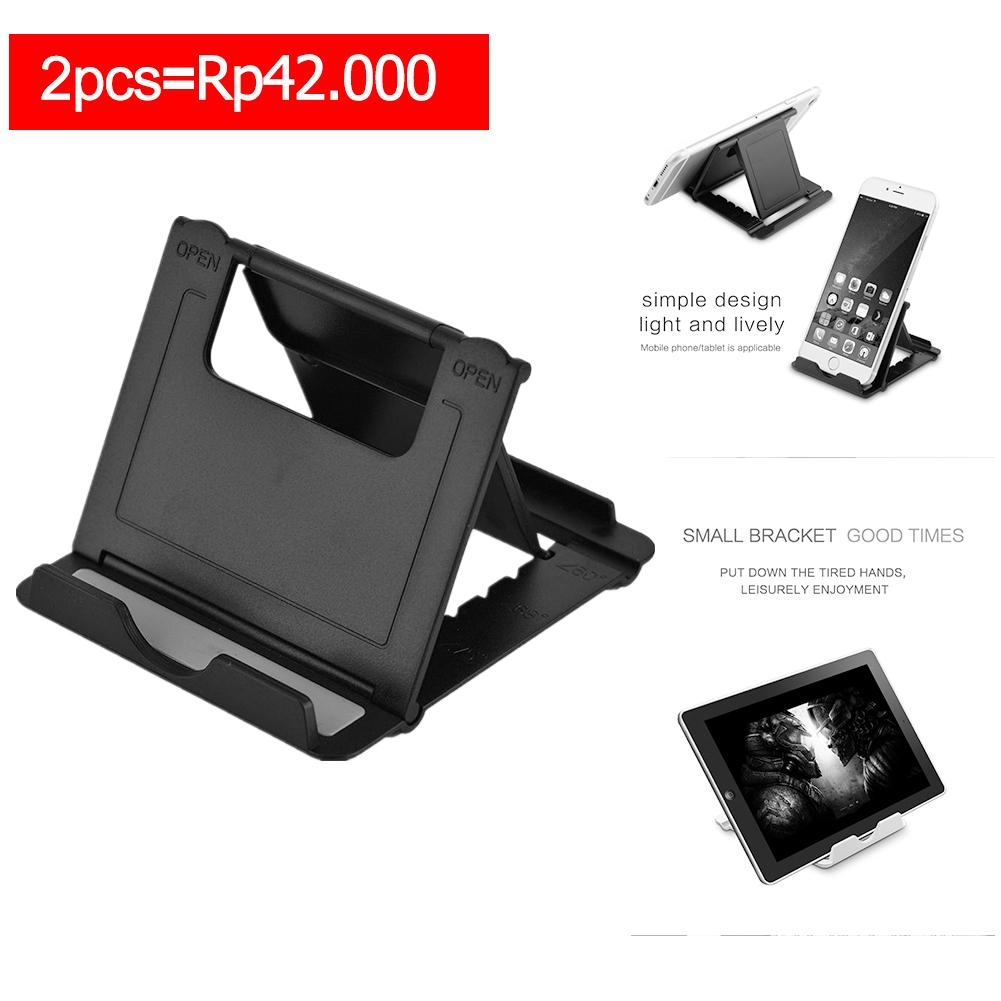 【buy One Get One 50% Off】adjustable Foldable Tablet Telepon Dudukan Meja Dudukan Penyangga Untuk Ipad Samsung Iphone Hitam-Intl By Sweatbuy.