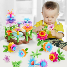104 PCS Garden Flower Building Toy Garden Build Blocks Non-Toxic BPA Free ABS Plastic Educational Kids Toy for Children