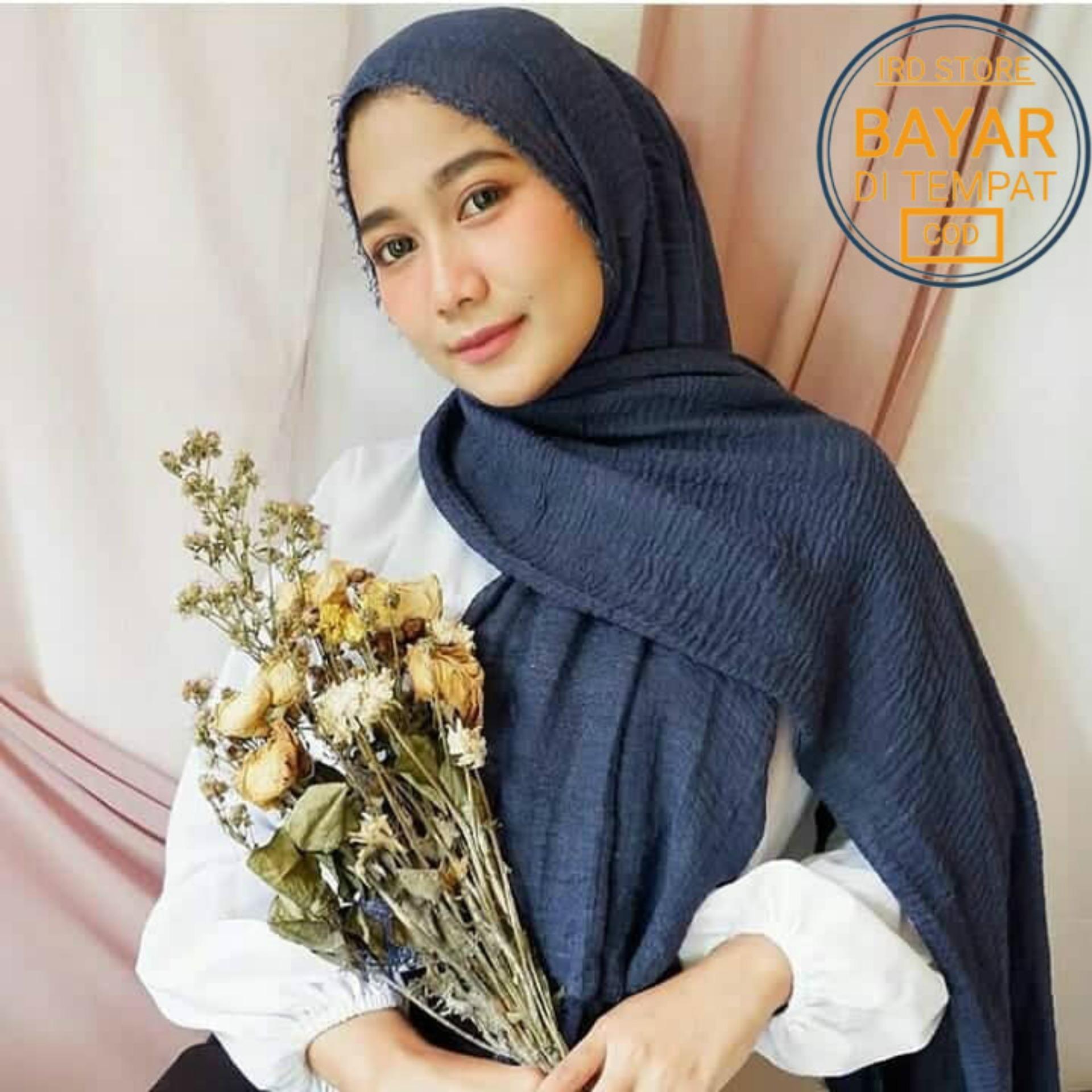Hijab Pasmina Crinkle warna terlengkap / jilbab Pashmina Crinkle warna terlengkap-ARETHA