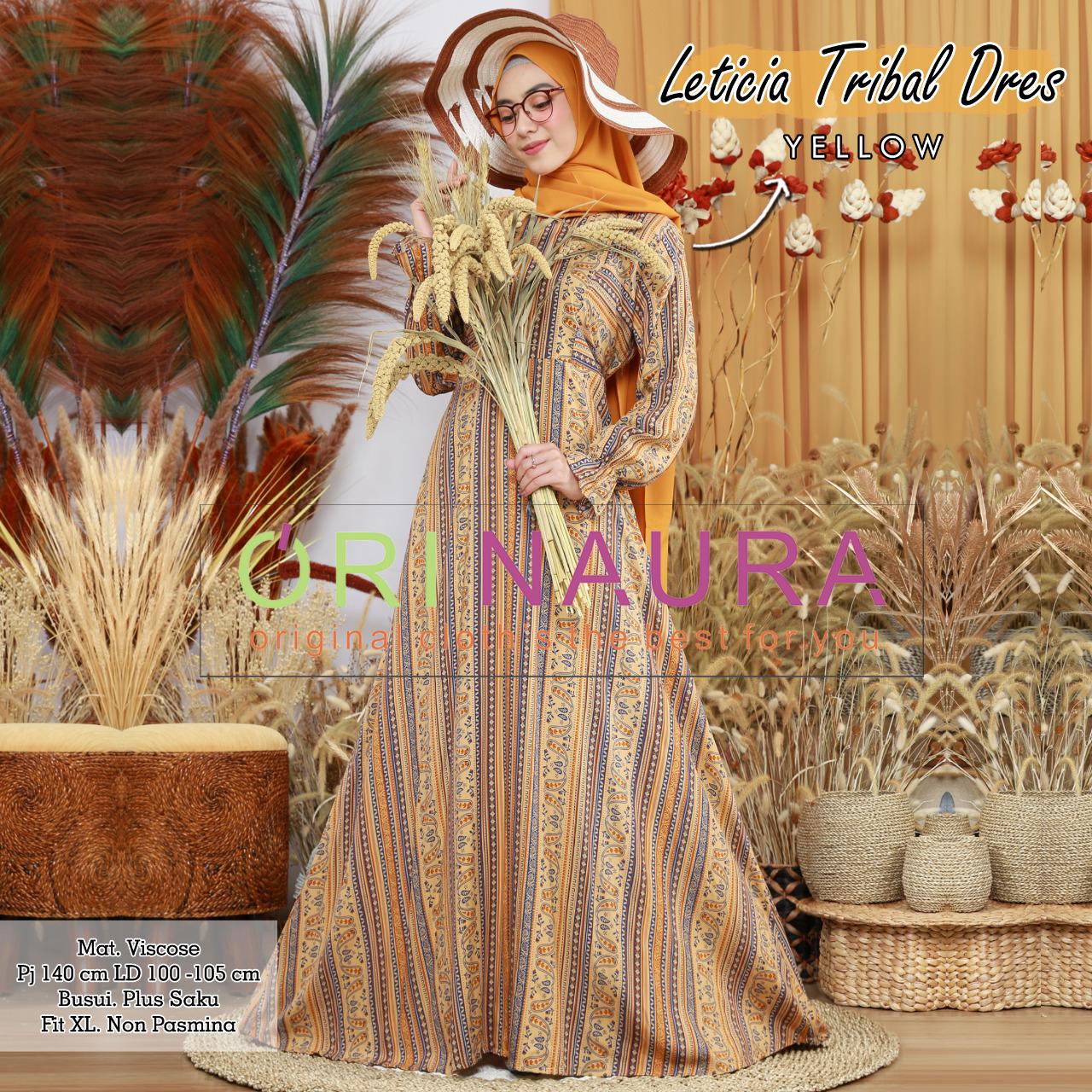 COD Realpict Gamis Leticia Tribal Dress Viscose Busui Saku | Gamis Batik Brokat Muslimah Syari Terbaru | Model Gamis Batik Polos & Kombinasi Terbaru