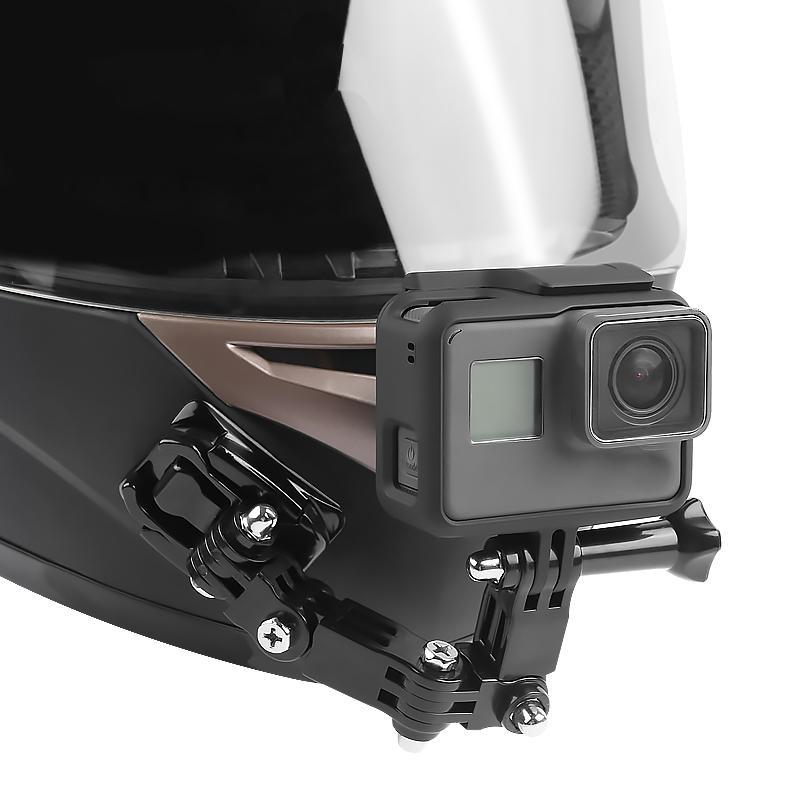 Cho GoPro HERO6/5/4 Xe máy Cằm Chân Đế Bàn Xoay Nút Núi Hành Động Cam Accessories_yunmiao