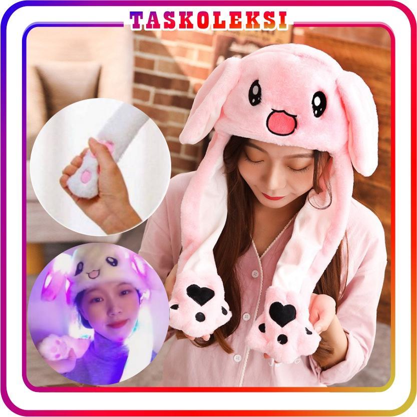 34c53d3f60836 TK - Topi Kelinci Bergerak Lucu Murah Import Rabbit LED Lucu Telinga Bunny  Bahan Plush Korea