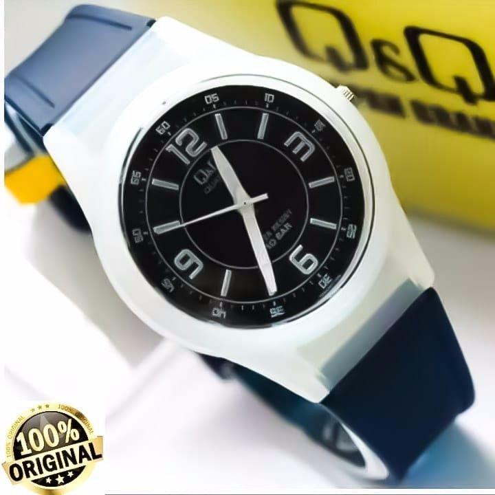 Q&Q Watch ORY Jam Tangan Unisex Anti Air  Free ( Box Ekslusive QQ)  - Hitam - Karet Terbaru