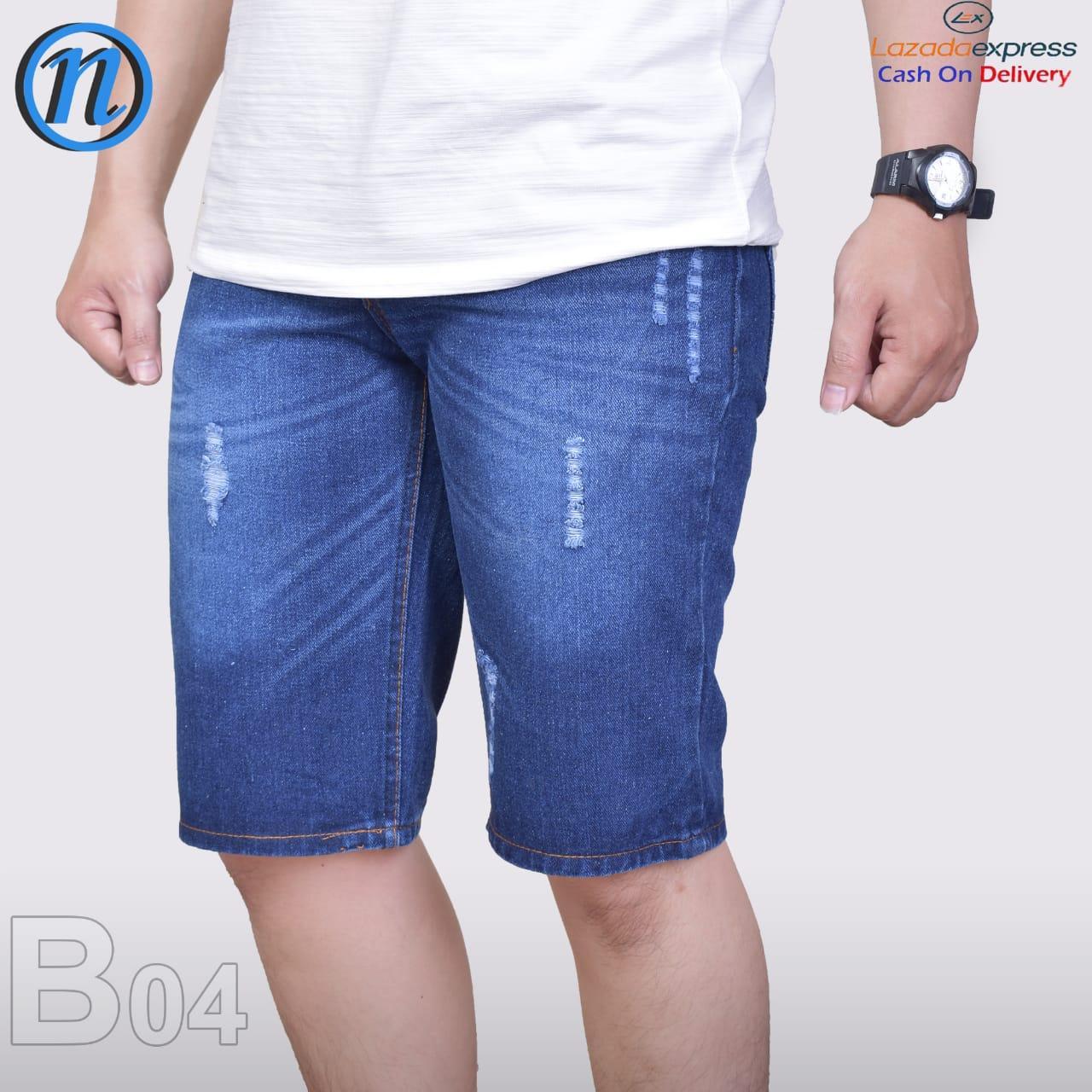 Celana Pendek Pria Distro Santai Jeans 3/4 Cargo Fashion Pakaian Pria