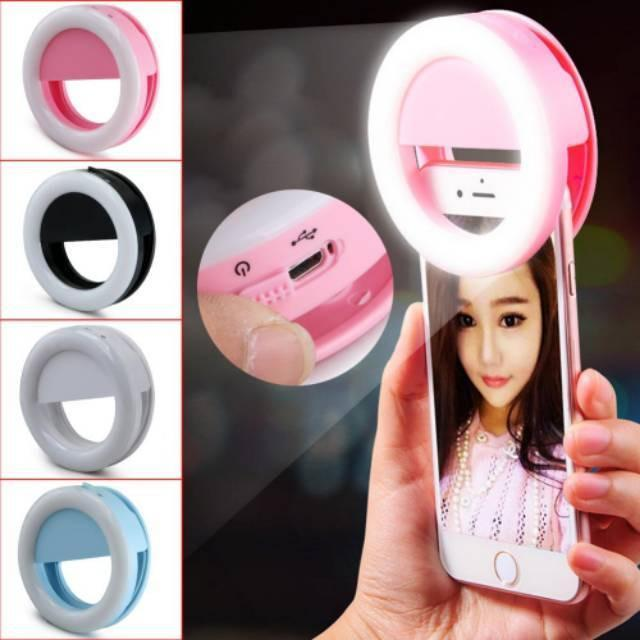 Lampu Selfie Selfi Ring Light Selfie Led / Selfie Ringlight Led / Lampu Selfie Bulat By Antarestar