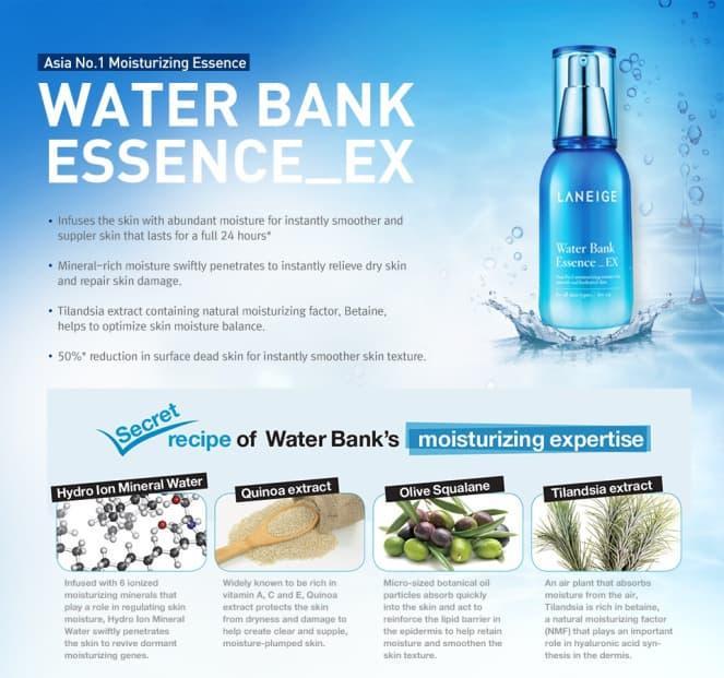 (DIJAMIN ORIGINAL) Laneige Water Bank Essence EX - 60ml - ready stock